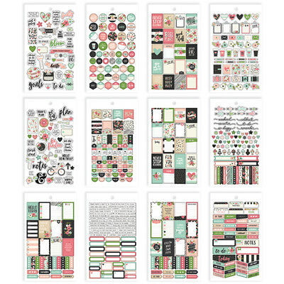 Simple Stories - Bloom - Mini Sticker Pack - 568 Stickers  12 Pages
