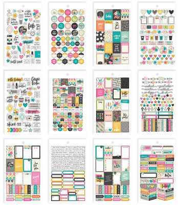 Simple Stories - Good Vibes - Mini Sticker Pack - 594 Stickers  12 Pages