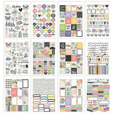 Simple Stories - Bliss - A5 Sticker Book Sized for A5 Planners 487 Stickers