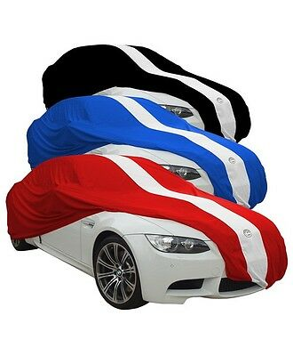 Show Car Cover Up To 4.8M Large Black With Racing Stripe Indoor Use