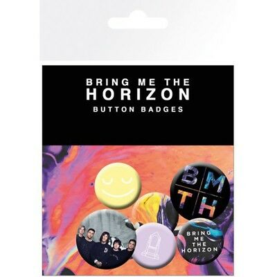 Bring Me The Horizon - 4 x 2.5cm and 2 x 3cm Button Set - Painted