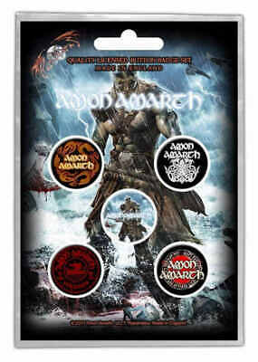 Amon Amarth - 5 x 2.5cm Button Set - Jomsviking