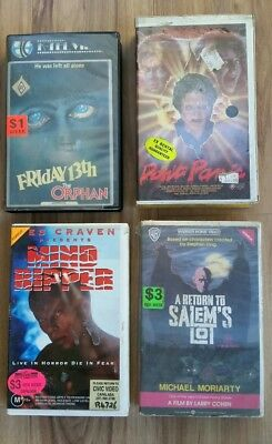 Vhs Horror Lot Friday 13Th Orphan Salems Lot Mind Ripper Dont Panic Rare Titles