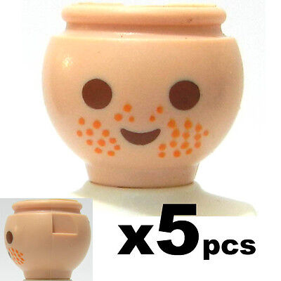 5 Pc  Playmobil  Heads with freckles