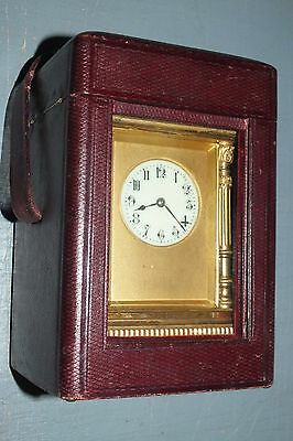 French Repeating Carriage Clock With Case.