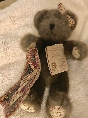 "Boyds Bears ""Ethel Homespun"" #904856- 10"" Plush Quilting Bear -2008- Retired"
