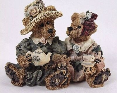 Boyds Bears & Friends Bearstone Collection Emma and Bailey.. Afternoon Tea #2277