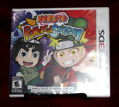 Naruto Powerful Shippuden Nintendo 3DS New Sealed Bandai Typo Misspelled Error