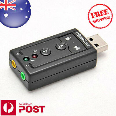 USB To 3.5mm Audio Sound Card Adapter USB To Mic / Headset - 7.1 Channel Z001AF