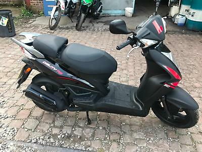 Kymco Agility 50 RS, only 37 miles from new, 2015, black / red, Finance