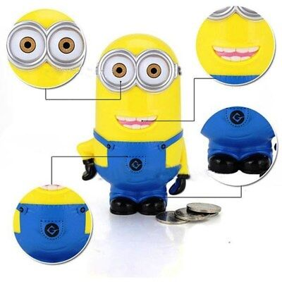 Minions 3D Novelty Piggy Bank Money Box Saving Coin Bank Cute Best Lovely Pot