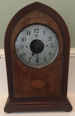 Early 19Thc Bulle Electric Lancet Mantel Clock In Untouched Original Condition