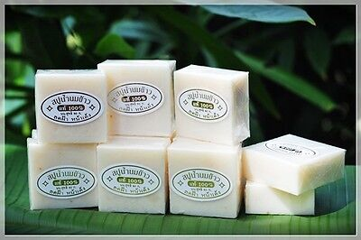 1 100% pure rice milk soap to reduce blemish face, scented rice milk s