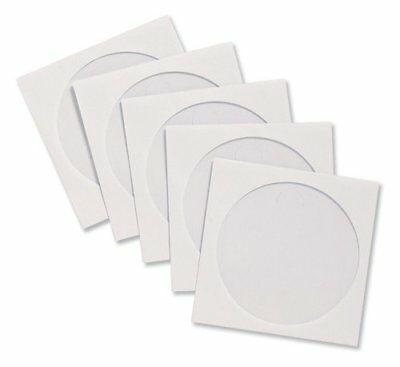 Compucessory CD Sleeve Envelopes Paper with Window W126xH126mm White Ref 442439