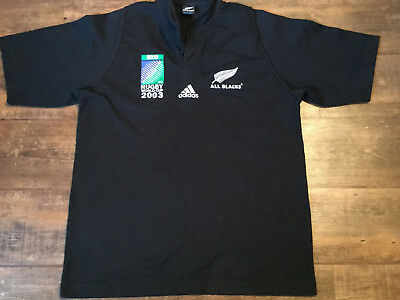 2003 New Zealand All Blacks Rugby Union World Cup Jersey