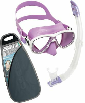 Cressi Marea Mask Snorkel Set in Blue, Lilac