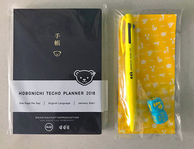 Hobonichi Techo Planner Book Steiff 2018 English A6 New + extras Limited Edition
