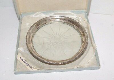 Antique Webster Sterling Silver Wine Coaster In Orig Box