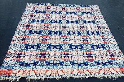 1846 DATED & NAMED FOLK ART COVERLET - HAND MADE in EXCELLENT CONDITION  ANTIQUE