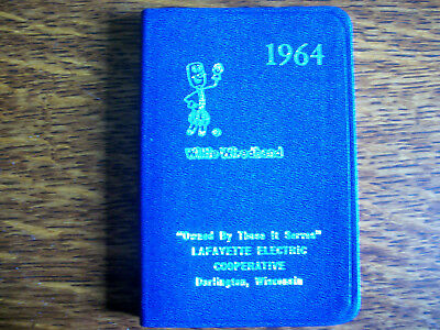 Willie Wiredhand 1964 Layfayette Electric Coop Address Book-Never Used