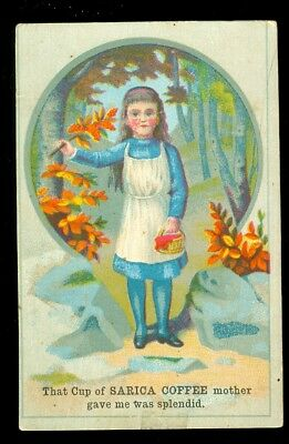 trade card-Sarica Coffee-Mother Gave to me-Little girl
