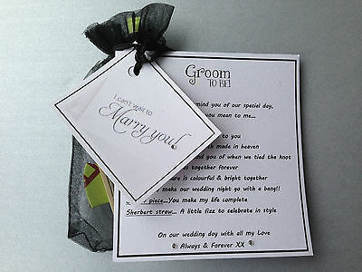 Groom to be Present.gift from bride on wedding morning,romantic,fun,survival Kit