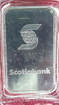 VINTAGE SCOTIABANK 1 oz FACTORY SEALED SILVER BAR VERY RARE