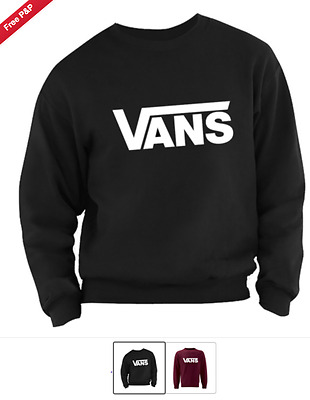 "Vans  Sweatshirt ""high Quality""On Sale One Various Sizes Unisex - Maroon, Black"