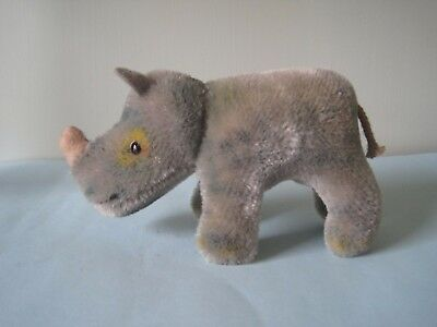 Vintage 1960s / 1970s Steiff rhino in good condition