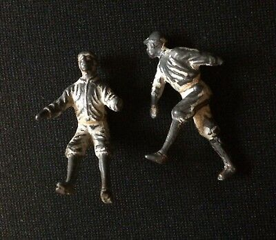 Two Metal Baseball Players; From Early Coin-Op Arcade Machine?