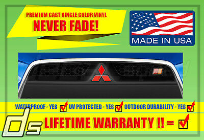 Mitsubishi Lancer 08-16 Lancer Front and  Rear Emblem Decal Overlay Set EVO