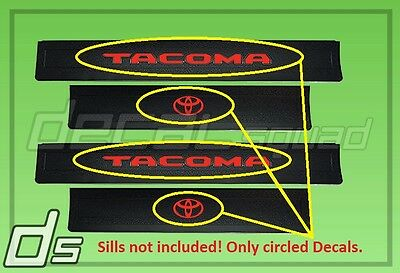 Toyota Tacoma 2016 17 18 Custom Vinyl Decal Inlay Insert for Door Sill Protector