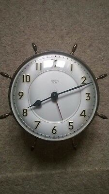 vintage Smiths Sectric maritime electric wall clock