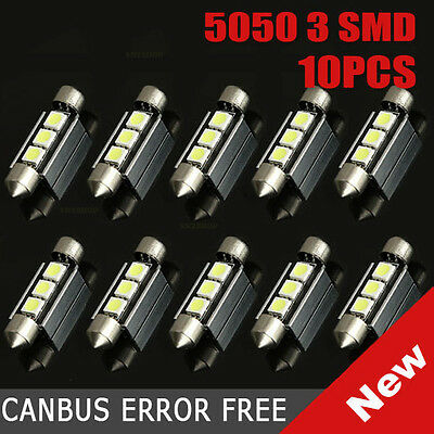 10x 36mm 5050 3 SMD LED Soffitte Canbus C5W weiß Auto 12V Innenraumbeleuchtung