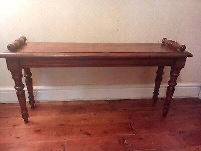 Antique Mahogany Roll End Window Seat