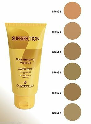 COVERDERM SUPERFECTION BODY BRONZING MAKE UP - WATERPROOF 100mls VARIOUS