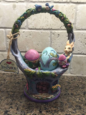 ~Jim Shore Welcome the Art of Easter Basket Eggs Rare NEW~