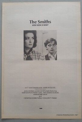 "THE SMITHS HOW SOON IS NOW #2 ORIGINAL 1992 Magazine Advert Size 12"" X 17"" app"