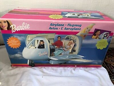 Barbie Airplane WITH BOX, AIR HOSTESS BARBIE AND ACCESSORIES. Great condition