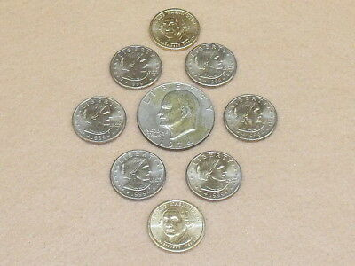 Mixed Lot Of Dollar Coins - SBA / G. Washington / Ike - 9 Total - NICE - NR - Z