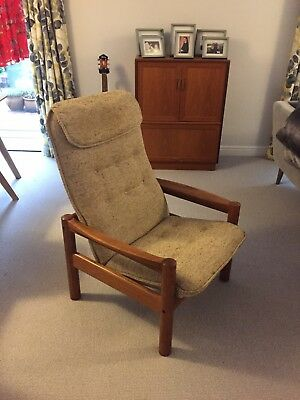 Danish teak Domino Mobler Lounge Chair
