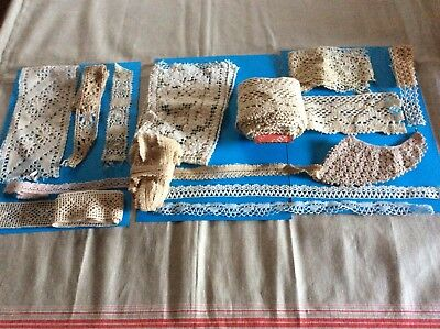Collection of Antique Cotton Lace suitable for a craft project.