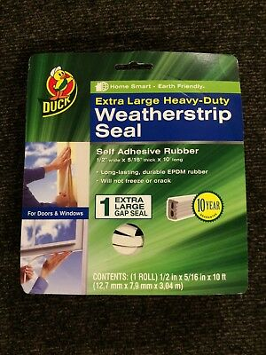 Duck Brand 282436 Heavy-Duty Self Adhesive Rubber Weatherstrip Seal for Extra...