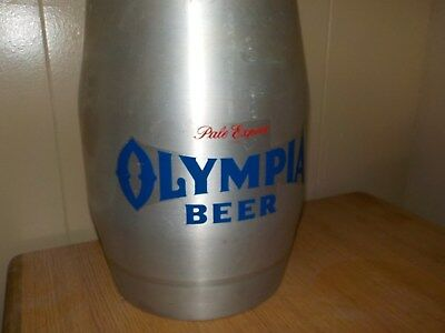 VTG OLYMPIA BEER Tapper Keg Bank 2.25 gal Reynolds Aluminum Pony USA  MAN CAVE