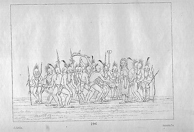 """LGBTQ / 1842~American Indian History ~ """" Dance to the Berdashe """" ~George Catlin"""