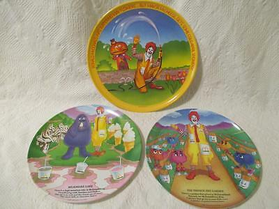 "Lot Ronald McDonalds Plates 10"" andn 9"""