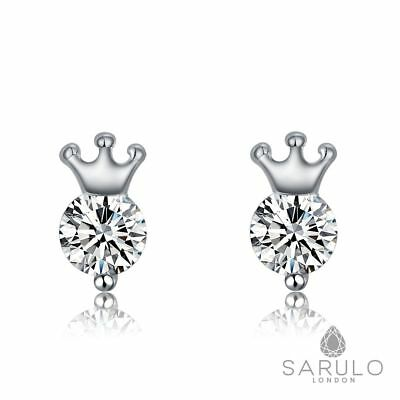 Crown 925 Sterling Silver Earrings Sarulo Jewelry New Fashion Gift Box Womens