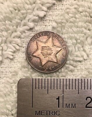 US, 1862 3 Cents Piece, Silver