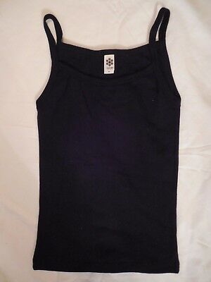 New Womens Black Super Stretchy Cotton Soft Comfy Tank Size Small Free Ship