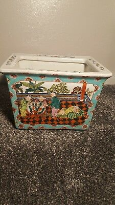 chinese planter hand painted